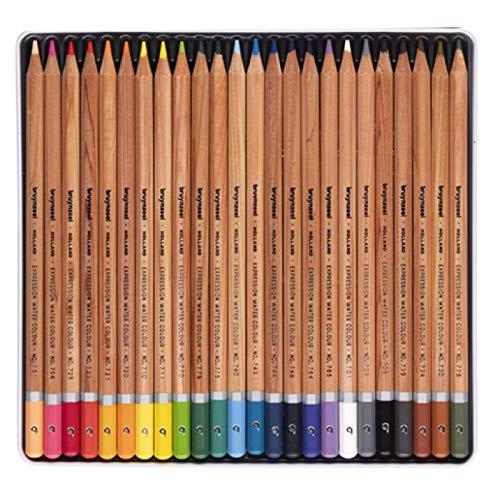 bruynzeel - matite colorate ad acquerello, confezione da 24, colore: nero