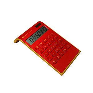DENKEME Calcolatrici Scientifica 1 Pz Solar Power Inclinato Ufficio Scolastico 10 Cifre Calcolatrice Desktop Strumento Batteria O Solar 2In1 Powered Red