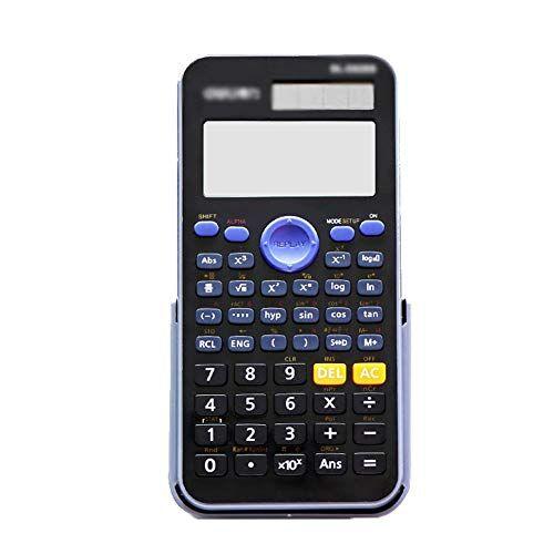 Chr Funzione calcolatrice studente di matematica multifunzione Science solare informatica Esame calcolatrice finanziaria 17 * 7.7 * 1,8 centimetri (Color : A, Size : 17 * 7.7 * 1.8cm)