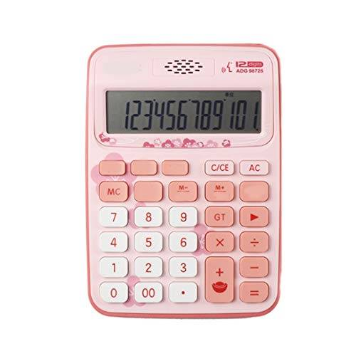 tcaijing calcolatrice,helect funzione standard tavolo calcolatrice da tavolo 12 cifre con ampio display elettronico. batterie 2aaa (non incluse)