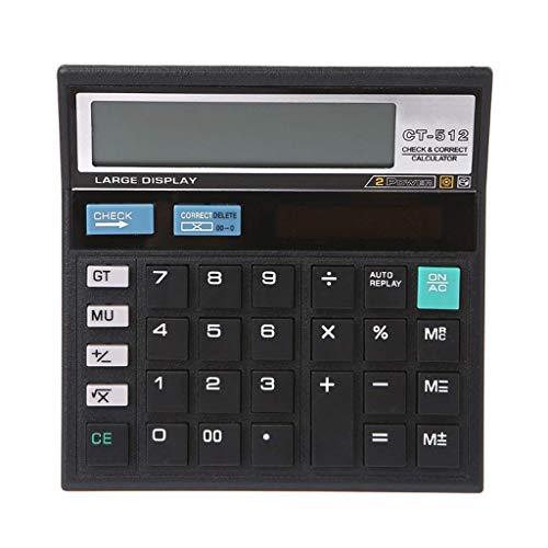 Vineyard Calcolatrice economico Solar Arredamento Informatica ufficio calcolatrice da tavolo calcolatrice 130mmx130mm Ufficio Vineyard (Size : A)