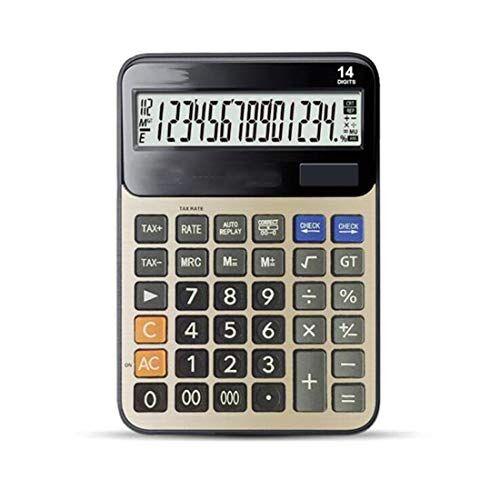 tcaijing calcolatrice,helect funzione standard tavolo calcolatrice da tavolo 12 cifre con ampio display elettronico. calcolatrice a energia solare e batterie 2aa (non incluse) 210 * 153 * 45mm