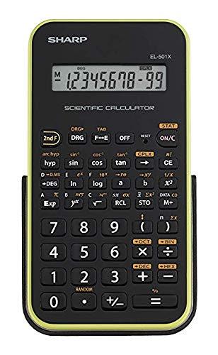 Sharp Calcolatrice Scientifica Informatica 10 Cifre 131 EL501XBGR Verde