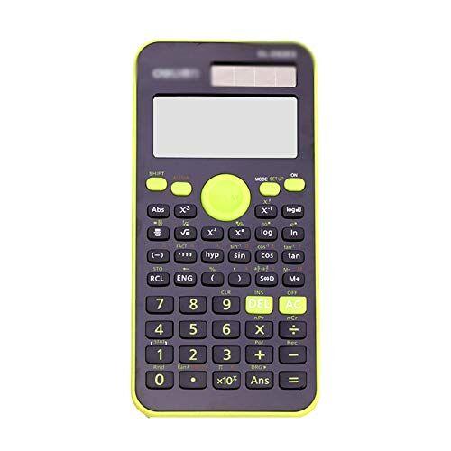 Chr Funzione calcolatrice studente di matematica multifunzione Science solare informatica Esame calcolatrice finanziaria 17 * 7.7 * 1,8 centimetri (Color : B, Size : 17 * 7.7 * 1.8cm)