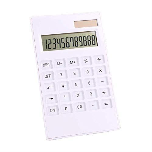 N/B Calcolatore Di Cristallo Bianco Multifunzionale Studente Informatica Calcolatrice