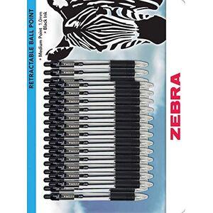 Zebra Pen Z-Grip - Penna a sfera retrattile, punta media, 1 mm, inchiostro nero, 18 pezzi 30 Pack Cruz V2 Fresh Foam