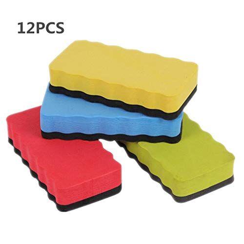 lgking supply gomma magnetica per lavasciuga a secco con lavagna bianca per uso in classe per ufficio confezione da 12