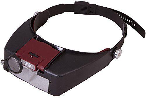levenhuk Zeno Vizor H2-Art N. 69669-Alta Qualità testa Band lente d' ingrandimento con laengenverstellbaren testa Band-Gamma di ingrandimento di 1,5X-8,0X Fach + Lente orientabile, per l' occhio destro + con batterie 2X AAA + 1X kit di