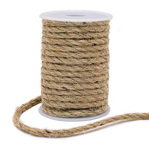 vivifyin corda di iuta da 6 mm, naturale e resistente, per lavori artigianali, tiragraffi per gatti, confezione (marrone)