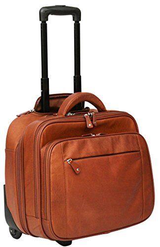 cortez - trolley bagaglio a mano business - scomparto removibile per laptop - pelle colombiana - terra di siena