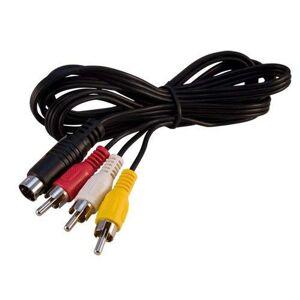 OSTENT Cavo adattatore video TV composito audio S-Video compatibile retro-bit per console giochi Sega Dreamcast