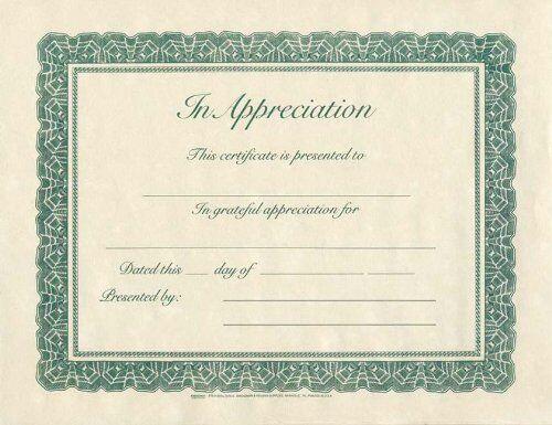 B&H Publishing Group certificate-appreciation