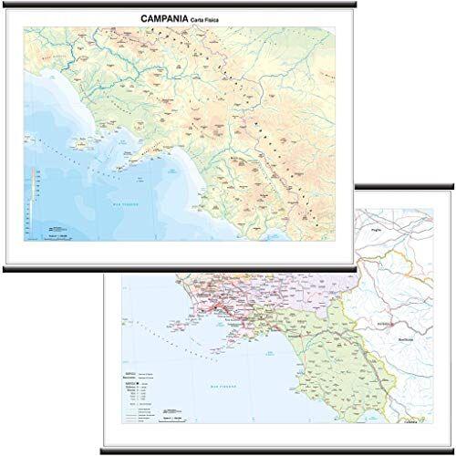 Belletti Campania Carta Regionale Murale