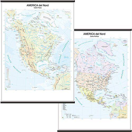 Belletti America del Nord Carta Murale