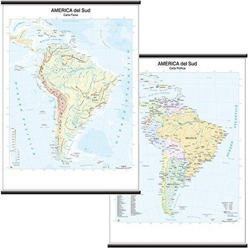 Belletti America del Sud Carta Murale
