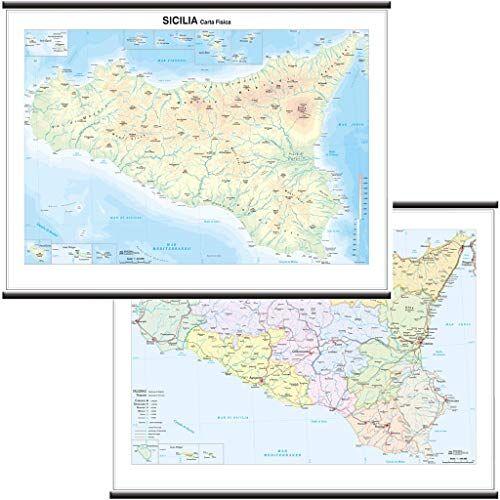 Belletti Sicilia Carta Regionale Murale
