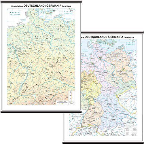 Belletti Germania Carta Murale Scolastica