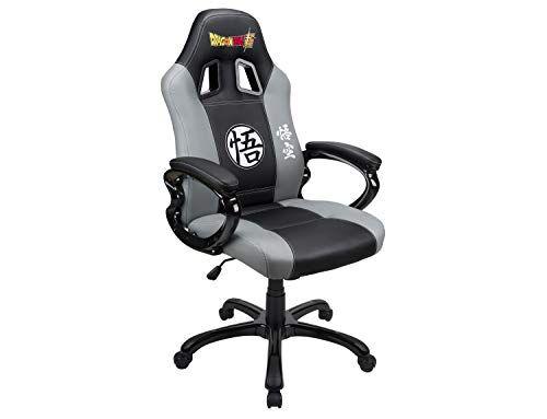 Subsonic Sedile da Gioco A Secchio - Poltrona Gamer Dbz con Sedile ergonomico Sedia Gaming da Ufficio Girevole - Licenza Ufficiale Dbz Dragon Ball Super - Nero e Grigio - PC