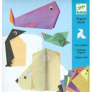 Djeco 599386031 – Papiroflex Origami Animali polari