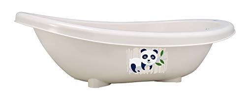 rotho babydesign vaschetta per bagnetto bio panda, 100% biodegradabile, 80 x 47 x 25 cm, organic white (bianco)