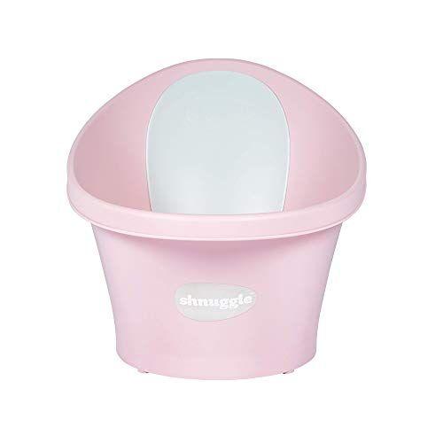 shnuggle vaschetta per bagnetto rosa con schienale bianco