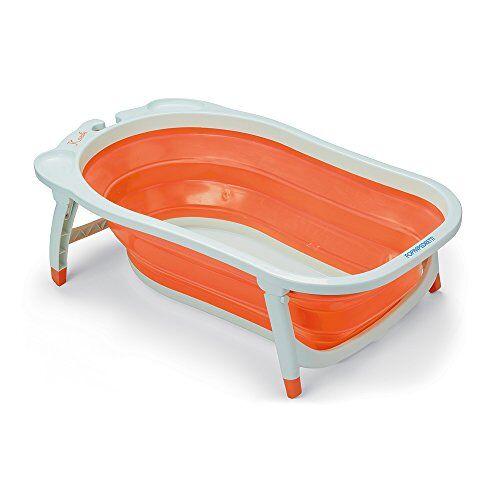 foppapedretti soffietto vaschetta bagnetto per bimbo, arancione