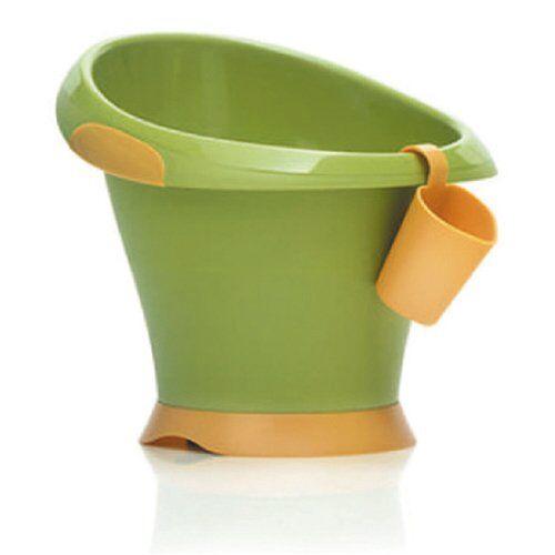mebby, vaschetta per bagnetto portatile, arancione (orange et vert), 0-2 anni