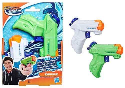Hasbro Pistola ad Acqua a spruzzo Super Soaker ZipFire, Confezione da 2 Pezzi
