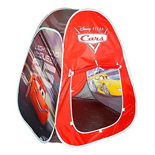 disney tenda da campeggio per bambini, tenda pop up, per bambini di 3 anni, motivo: cars rayo mac queen gazebo pieghevole per bambini automontabile