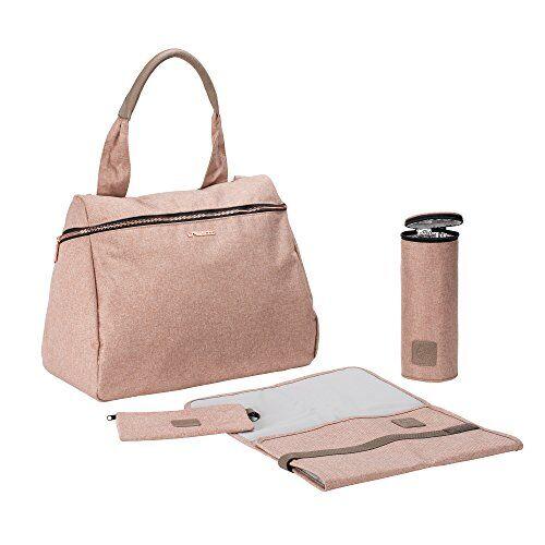 Laessig LSSIG Borsa per pannolini con accessori Borsa Fasciatoio/Glam Rosie Bag, rosa