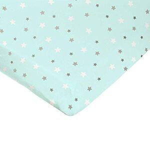 DOMIVA - Lenzuolo con angoli, motivo stelle, 70 x 140 cm, colore: Verde
