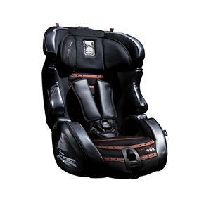 Kiwy, Seggiolino da auto per bambini, in pelle, con adattatore, Nero (schwarz/rot)