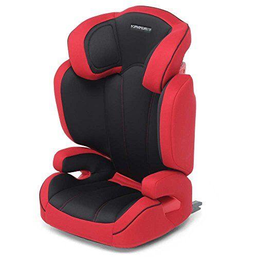 Foppapedretti Miestendo Fix Seggiolino Auto, Gruppo 2/3 (15-36kg), per Bambini da 3 a 12 Anni, Sistema Isofix, Rosso/Nero
