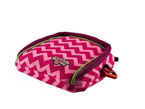 bubblebum seggiolino auto gonfiabile per viaggio, gruppo 2/3, rosa