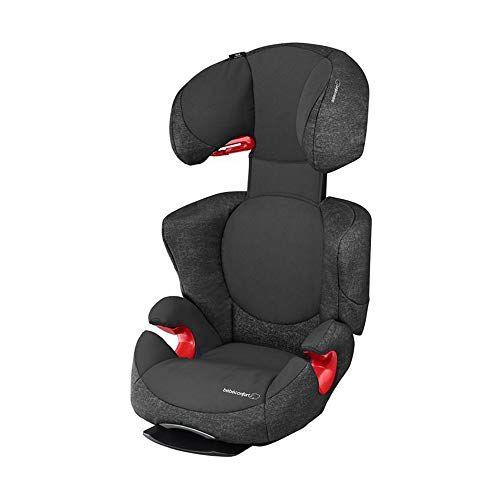Bébé Confort Rodi AirProtect Seggiolino auto 15-36 kg, Gruppo 2/3 per bambini dai 3,5 ai 12 anni, Reclinabile, Facile da installare, Colore Nero (Nomad Black)