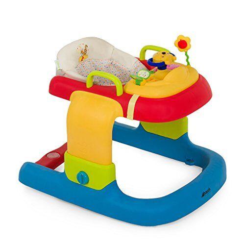 hauck 2 in 1 walker disney girello bambino primi passi evolutivo da 6 mesi a 12 kg, multifunzionale con ruote, centro giochi e seduta rimovibile, regolabile in altezza, pooh ready to play (multicolore)