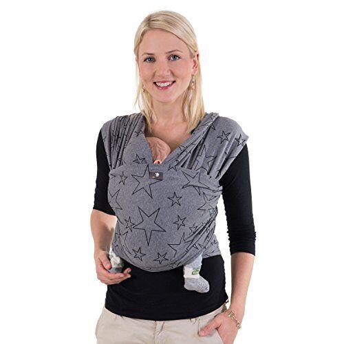 hoppediz - fascia elastica portabebé per neonati prematuri e a termine, istruzioni incluse