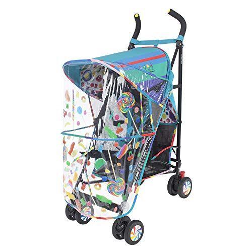 maclaren passeggino maclaren volo dylan's candy bar - cappottina estensibile upf 50+/impermeabile, sedile traspirante, 4 ruote ammortizzate, cestello maggiorato.  accessori inclusi