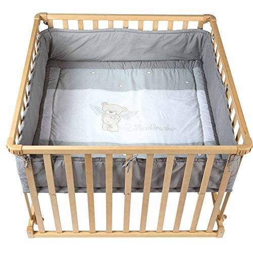 roba 0256 s111 disegno orsetto box per bambini, 100x100 cm