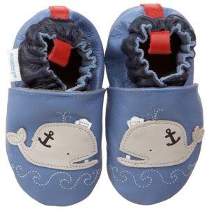 Robeez-scarpe di cuoio, per bambino 17/18 blu