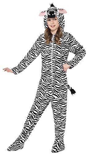 smiffy's smiffys costume da zebra, tuta integrale con cappuccio