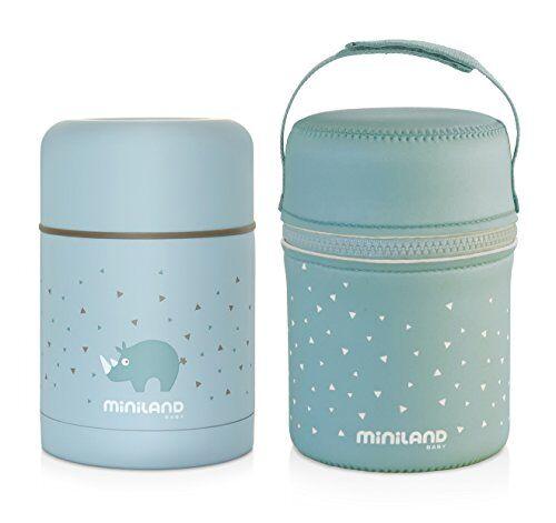 Miniland 89221 Miniland Thermos per alimenti solidi di gran de capacità con borsa di neoprene 600 ml