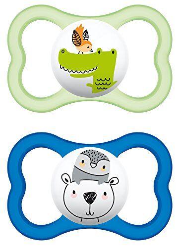 MAM 226311 - CiuccioAir in silicone per bambini dai 16 mesi in su, confezione doppia, colori assortiti