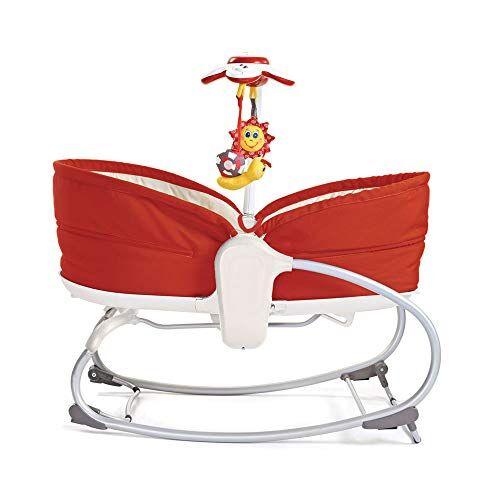 tiny love rocker napper sdraietta neonati con vibrazione e con giostrina musicale, colore rosso