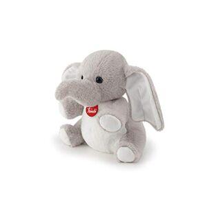 Trudi- Elefante Peluche con semini Farro, Colore Grigio, 19337
