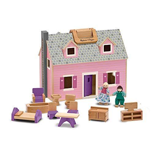 melissa & doug melissa and doug gioco in legno casa delle bambole trasportabile