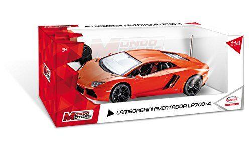 mondo- lamborghini aventador lp700-4 macchina radiocomandata, colore rosso, 63129