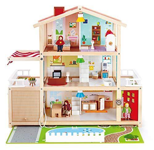 hape- casa delle bambole, multicolore, e3405