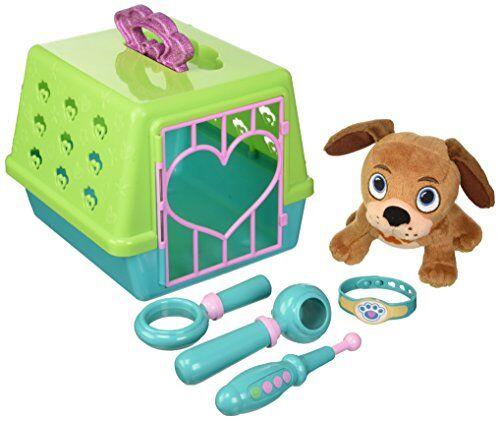 giochi preziosi dottoressa peluche cane fido vet, kit con peluche, trasportino e accessori