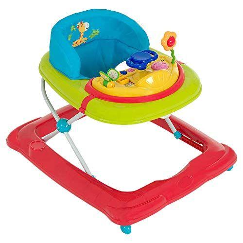 hauck walker player girello ece primi passi arco a partire da 6 mesi, con ruote regolabile in altezza, junge fun (colorato)